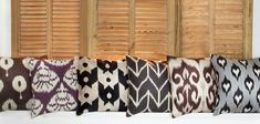 Pillows Ikat silk and coton Www.danmasboutique.com