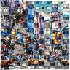 Ariel Eristingcol, TimeSquareTaxi Made with fused plastic beads A very interesting new CB2 offering
