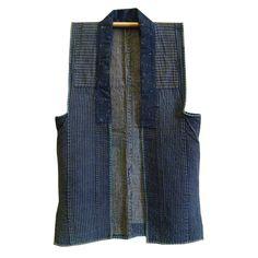 A Sashiko Stitched Sleeveless Vest: Yamagata http://www.srithreads.com/collections/new-sri/products/a-sashiko-stitched-sleeveless-vest-yamagata#
