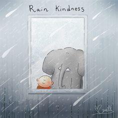 Rain Kindness ~ Buddha Doodles