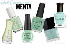 Spring 2014 nail polish color trends: mint & seafoam green