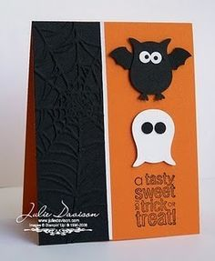 LOVE the bat!!!! Stampin' Up!'s owl punch