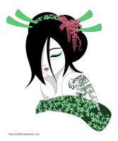 Green Geisha by chii00
