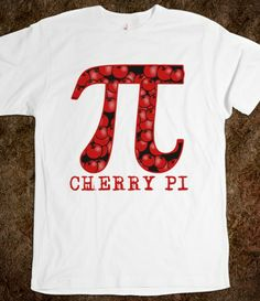 CHERRY PI for Pi Day Tshirt  #piday