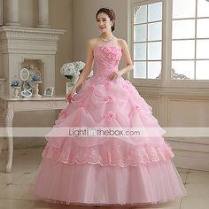 Vestidos de 15 corte princesa rosa
