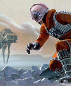 "Image of ""Luke on Hoth"" by Ralph McQuarrie- Canvas (10"" x 24"")"