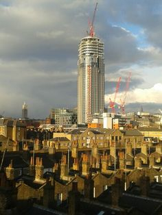 Shiny new tower, from London Waterloo, 21 Feb 2015