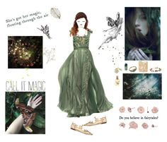 """""""I believe in Fairies"""" by angeladesantis ❤ liked on Polyvore featuring Tony Ward, Dolce&Gabbana, Sweet Romance, Girard-Perregaux, Sole Society, eliurpi, Flidais Parfumerie, Pier 1 Imports and French Kiss"""