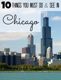 10 Things to do and see in Chicago! - I can't believe I live 1 hr from here and haven't done much on this list! Visit Chicago, Chicago Travel, Chicago Trip, Vacation Destinations, Dream Vacations, Vacation Spots, Oh The Places You'll Go, Places To Travel, Places To Visit