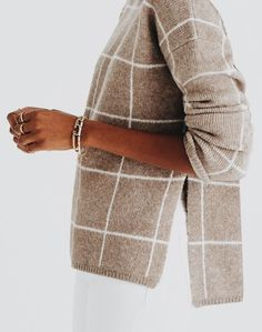 This neutral pattern is perfect for a bold yet understated look