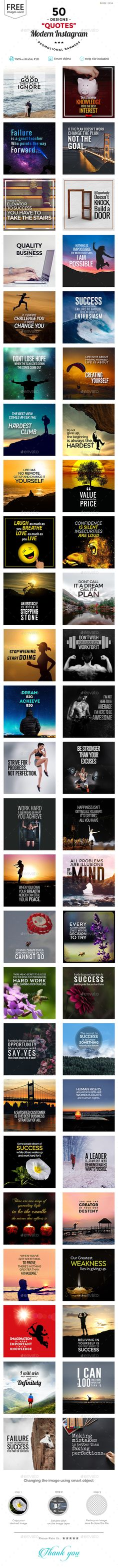 Quotes Instagram Banners Templates - 50 Designs