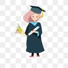 Graduation Girl Cartoon Character Graduation Figure Cartoon Girl Graduation Smiling Girl Graduation Season Youth Png Transparent Clipart Image And Psd File F Girl Cartoon Characters Graduation Girl Girl Cartoon