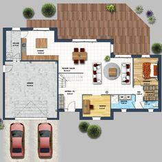 Place à un double garage pour cette maison traditionnelle de Loire-Atlantique alliée à des touches de modernité sur sa façade[...]