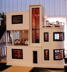 Art deco dollhouse from dolly daydreams.