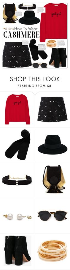 """""""November 14, 2016-.1.-"""" by adriianne ❤ liked on Polyvore featuring Chinti and Parker, Giamba, Monki, Maison Michel, Anissa Kermiche, Yves Saint Laurent, Aquazzura, Kenneth Jay Lane, shorts and booties"""