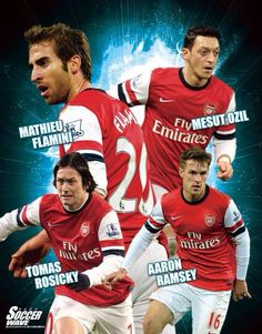 Arsenals fantastic And don't forget jack wilshere and santi cazorla and mikel arteta! Football Info, Free Football, Best Football Players, Football Team, Arsenal Fc, Jack Wilshere, Mikel Arteta, English Football League, Arsenal F.c.