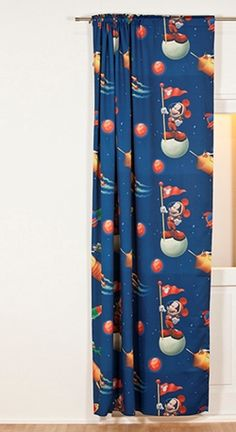 ready made curtains with mickey mouse 100 polyester 4995 140 x 250 cm wwwkidsfabricseu