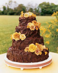 textured chocolate cake