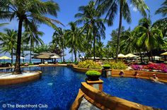 Katathani Phuket Beach Resort has one of the most privileged and beautiful locations on Phuket. Beach Hotels, Beach Resorts, Hotels And Resorts, Big Pools, Phuket Resorts, Most Beautiful Beaches, Beach Fun, Sea Shells, The Good Place