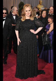 Adele, style : Jenny Packham, Oscars 2013