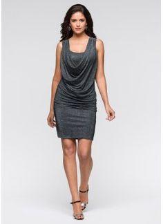 Kleid, BODYFLIRT, schwarzsilber