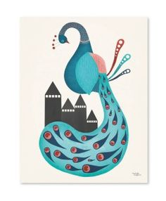 Peacock cockatoo plakat af michelle carlslund