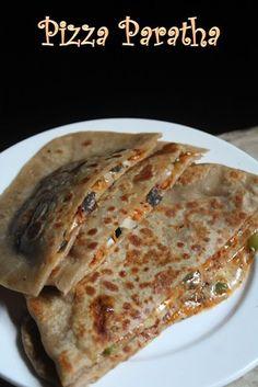 YUMMY TUMMY: Pizza Paratha Recipe - Cheese Stuffed Paratha Recipe
