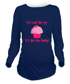 Look at this #zulilyfind! Navy 'For the Baby' Maternity Long-Sleeve Tee – Women by CafePress #zulilyfinds