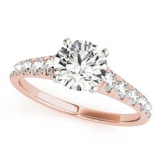Transcendent Brilliance 14K Gold 1 1/2ct TDW Diamond Graduated Shank Engagement Ring (G-H, VS1-VS2) (