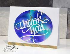 Thank you cards with Alcohol Ink backgrounds