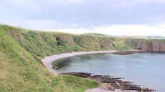 Stonehaven coast where the Castle lies.