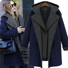 Find More Wool & Blends Information about C36 Winter keep warm fashion Plus Size thick wool blends blue wool Coat for Women's girls Outwear wool Coat  and Jacket,High Quality wool coats cheap,China wool women coat Suppliers, Cheap wool cap from Owlcity on Aliexpress.com