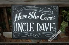 Here she comes  Here comes the bride  ring bearer by customchalk, Etsy.com
