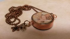 Copper pipe resin necklace. NewmansJules.