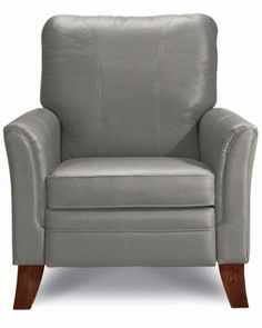 Charmant Light Leather Grey Recliner