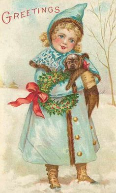This is a collection of vintage Christmas images and art from my vintage paper collection. These are delightful and old fashioned images taken mostly from an antique postcard collection left to me by my great uncle. I've collected a few on my own...