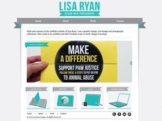 My portfolio website  © 2012 Lisa Ryan Design