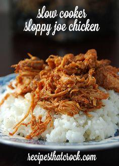 Slow Cooker Sloppy  Joe Chicken #CrockPot Recipes