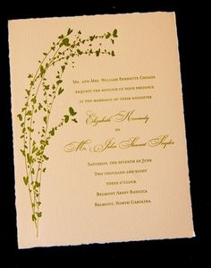 Red Stone Press  Wedding Invitations Charlotte NC   Letterpress, Pocket  Folders, Thermography,