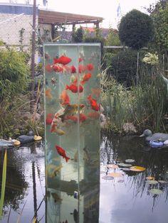 Fischsäule im Teich
