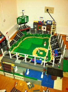 Wrigley Field Update :: My LEGO creations. An update of my NON LDD wrigley field! Lego Baseball, Cubs Baseball, Cubs Room, Wrigley Field Chicago, Lego Sports, Chicago Cubs World Series, Cubs Win, Go Cubs Go, Baseball Equipment