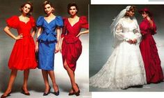 A bridesmaid's dress was an ugly, solemn pact of friendship. A bizarre drapery that appealed to no one but the bride; a flouncy, ill-colored, poorly cut sacrifice that a woman was willing to make to ensure her friend's big day was just as she wanted it.1985 Montgomery Ward's Catalog