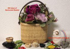 Nantucket Basket Salt & Pepper tote and miniature baskets