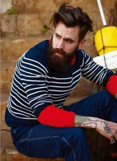Ricki Hall / men fashion tats ink beards