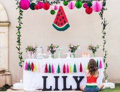 Lily's 9th Birthday - 'One in a Melon' Watermelon theme   HOORAY! Mag