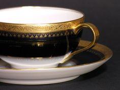 Tasse et Sous-Tasse en Porcelaine Théodore par LArriereBoutique