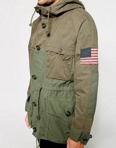 Denim-Supply-Ralph-Lauren-Men-Military-Army-American-Flag-USA-Field-Coat-Jacket