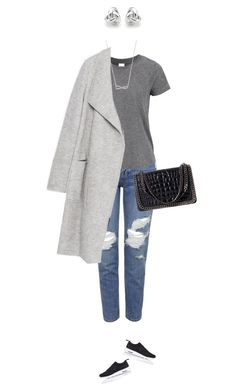 """Everyday grey !"" by azzra ❤ liked on Polyvore featuring Topshop, Zara, NIKE, Georgini and Minimaliststyle"
