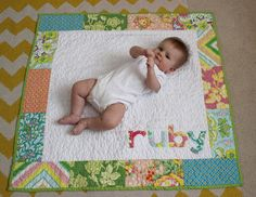 Baby name quilt. The tutorial link is referenced at the end.