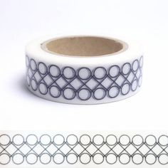 Masking tape ronds et losange N&B